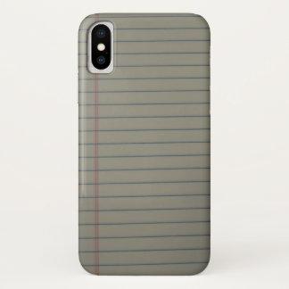 Ruled Paper iPhone X Case