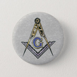 Ruler and compass 2 inch round button