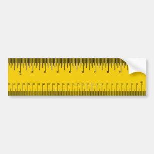 Ruler - bumper sticker