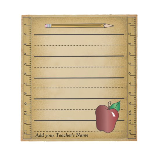 Ruler Paper Notepad