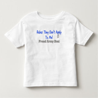 Rules Don't Apply Army Brat Toddler T-shirt
