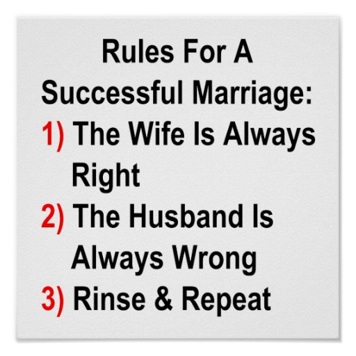 Rules For A Successful Marriage Print