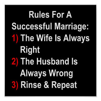 Rules For A Successful Marriage Poster