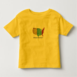 """""""Rules for Americans"""" USA Logo Toddler T-shirt"""