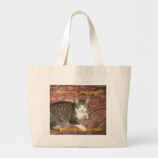 Rules Kitty Large Tote Bag