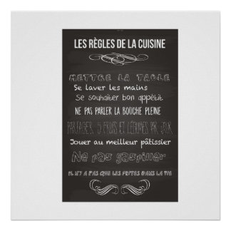 rules of the kitchen poster