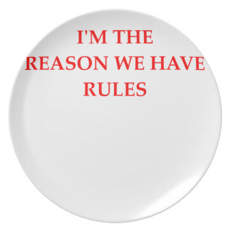 RULES PLATE