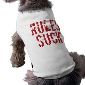 Rules Suck - Question Authority Anarchist Doggie T Shirt