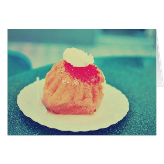 Rum baba greeting card