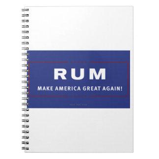 Rum Make America Great Again Notebook