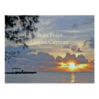 "RUM POINT PIER (GRAND CAYMAN) ""BEAUTIFUL SUNSET"" POSTCARD"
