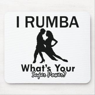 Rumba dance designs mouse pad