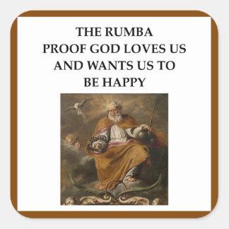 rumba square sticker