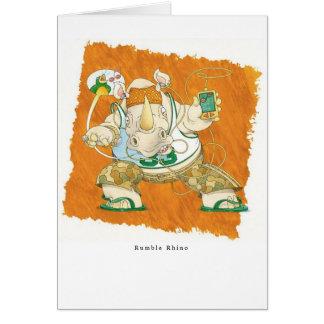 Rumble Rhino Card
