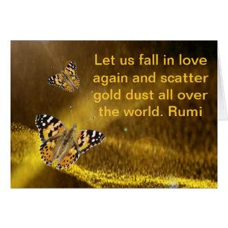 Rumi Fall in love again Card