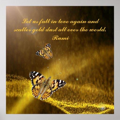 Rumi Fall in love again Posters