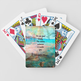 Rumi Inspiration Quote About The Universe Bicycle Playing Cards