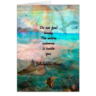 Rumi Inspiration Quote About The Universe Card