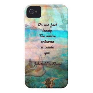 Rumi Inspiration Quote About The Universe iPhone 4 Cover