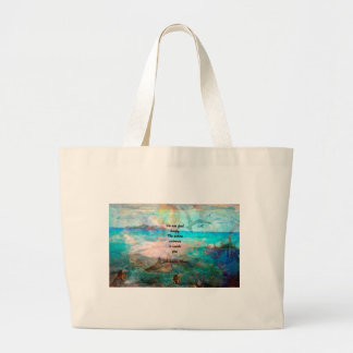 Rumi Inspiration Quote About The Universe Large Tote Bag