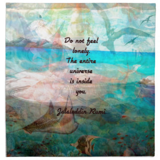 Rumi Inspiration Quote About The Universe Napkin