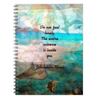 Rumi Inspiration Quote About The Universe Notebooks