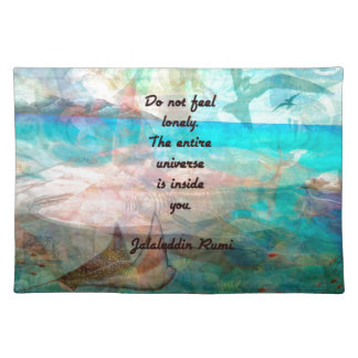 Rumi Inspiration Quote About The Universe Placemat