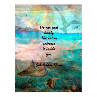 Rumi Inspiration Quote About The Universe Postcard