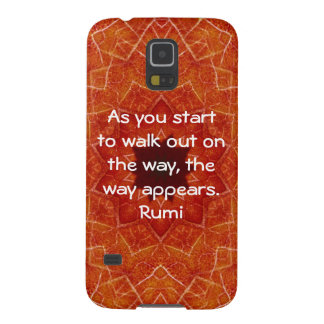 Rumi Inspirational Quotation Saying about Faith Galaxy S5 Covers