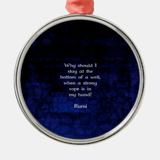 Rumi Inspirational Taking Action Quote Silver-Colored Round Ornament
