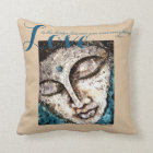 Rumi Love Quote Buddha Watercolor Art Throw Pillow