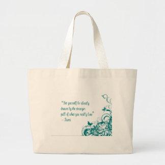 Rumi love quote large tote bag
