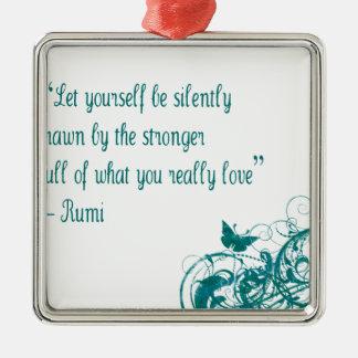 Rumi love quote metal ornament
