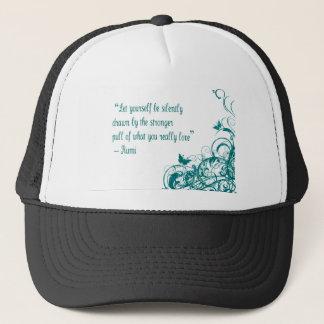Rumi love quote trucker hat