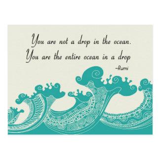 Rumi Ocean quote Postcard