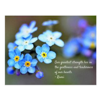 Rumi Postcard. Inspirational quote on life. Postcard