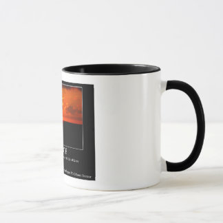 Rumi quote and Sunset pic on Ringer mug
