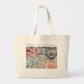 Rumi Quote Buddha Art Jumbo Tote