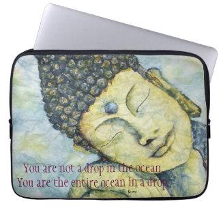 Rumi Quote Buddha Art Laptop Sleeve