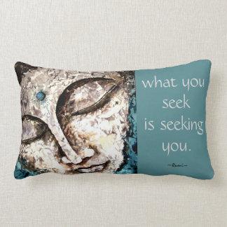 Rumi Quote Buddha Watercolor Art Pillow