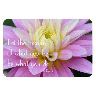 Rumi Quote Dahlia Magnet