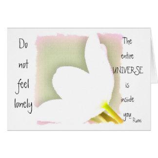 Rumi Quote Tulip Card