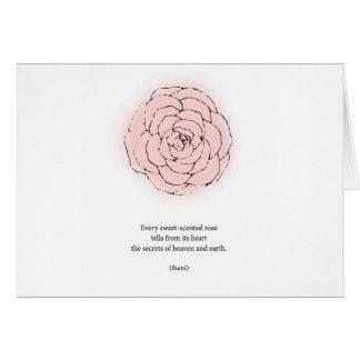 Rumi Rose Poetry Card