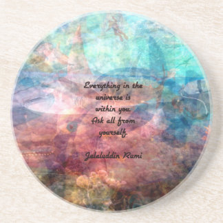 Rumi Uplifting Quote About Energy And Universe Coaster