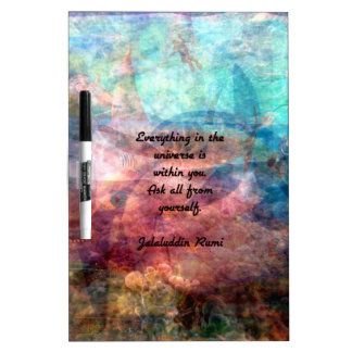 Rumi Uplifting Quote About Energy And Universe Dry Erase Board
