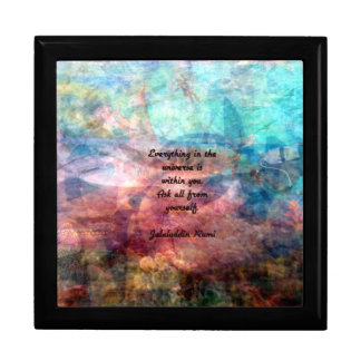 Rumi Uplifting Quote About Energy And Universe Gift Box