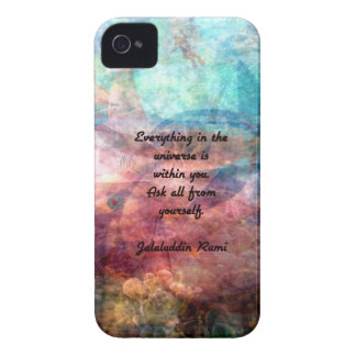 Rumi Uplifting Quote About Energy And Universe iPhone 4 Covers