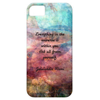 Rumi Uplifting Quote About Energy And Universe iPhone 5 Cover