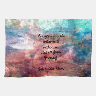 Rumi Uplifting Quote About Energy And Universe Kitchen Towel