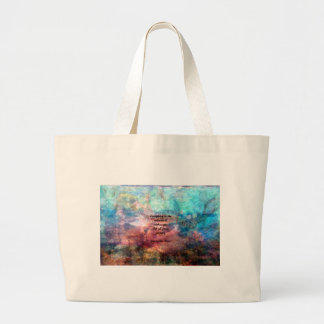 Rumi Uplifting Quote About Energy And Universe Large Tote Bag